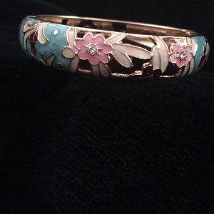 Cloisonné Hinge Bracelet